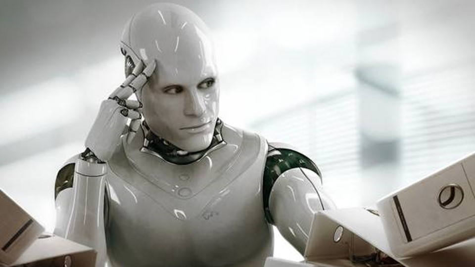 Robot thinking about data science