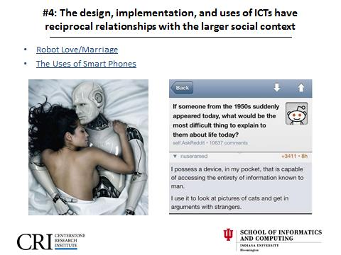Social Informatics, Robot Love, Unintended Consequences